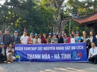 Khảo sát, kết nối du lịch các tỉnh Tây Nguyên (Đắk Lắk, Gia Lai) với 02 tỉnh Thanh Hóa – Hà Tĩnh.