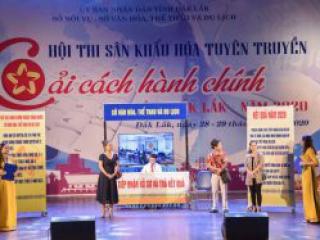 Sở Văn hóa, Thể thao và Du lịch đoạt giải Nhất Hội thi sân khấu hóa tuyên truyền Cải cách hành chính tỉnh Đắk Lắk năm 2020