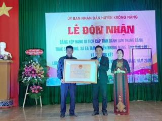 Lễ đón nhận bằng xếp hạng di tích cấp tỉnh danh lam thắng cảnh Thác Sơn Long