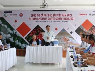 Khai mạc Cuộc thi Cà phê đặc sản Việt Nam năm 2021